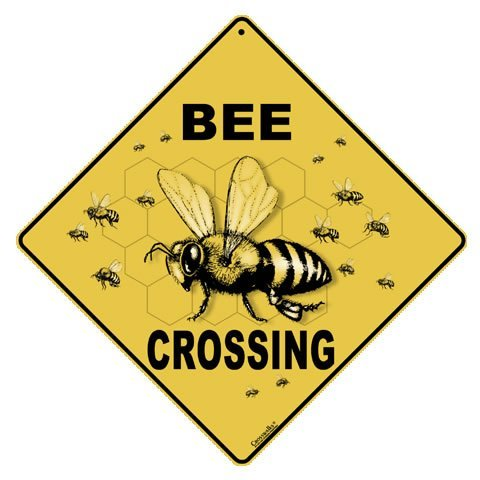 CROSSWALKS Bee Crossing 12' X 12' Aluminum Sign (X43)