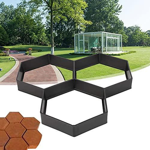 ZhiLianZhao Molde de Pavimento Cemento Molde para Acera, Garden DIY Plastic Path Maker Pavimentación, Durable, para Pavimento de Jardín, Escalones, Losas Pavimento