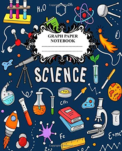 Science Graph Paper Notebook: Graph Ruled Composition Notebook college ruled 5 Squares Per Inch, Chemistry, Engineering & Math book for School College ... Notebook Good quality Glossy 7.5x9.25 in