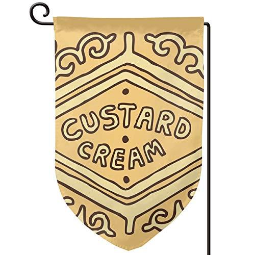 Lilyo-ltd Custard Cremefarbene britische Keks-Flagge, 31,8 x 45,7 cm