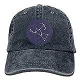 Miedhki Unisex Adjustable Yarn-Dyed Denim Baseball Cap Orion Constellation Hiphop Cap Multicolor19