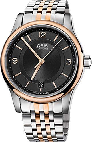 Oris Classic Date Herren-Armbanduhr Edelstahl rotgoldfarben