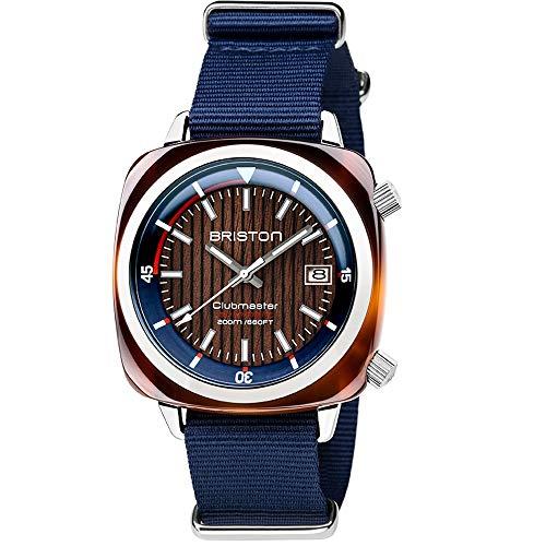 Briston–Clubmaster Diver Yachting acetato–Hms automatico blu navy