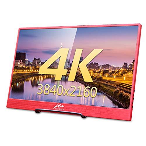 4K 15,6-inch draagbare monitor 3840×2160 IPS Scherm met Dual Mini HDMI-interface (USB-aangedreven, Type-c-interface, DP-interface) Portable monitor voor Mac, Windows 7 8 10, PS3, PS4, Xbox, Kenowa