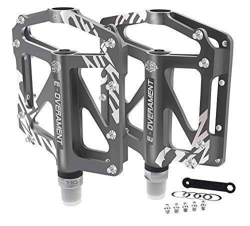 Pedali da Ciclismo Flat MTB, Bmx in Alluminio Ultra leggeri e Antiscivolo - Mountain Bike, Bicicletta da Strada e per Bicicletta Pieghevole – Extra tool per Pedale – Pedali Bici Certificati