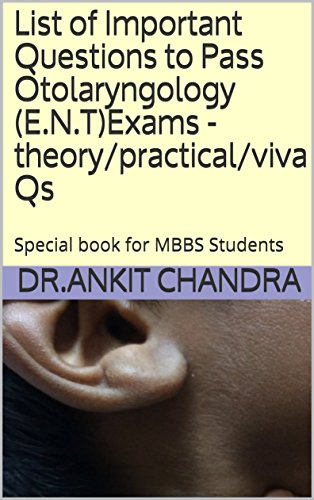 List of Important Questions to Pass Otolaryngology (E.N.T)Exams -theory/practical/viva Qs: Special book for MBBS Students (English Edition)