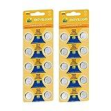 MovilCom® - 20 Pilas Botón AG10 Pilas Reloj 1.5V Equivalente a L1130, LR1130, L1131, LR1131, LR54, 389, 389, SR1130W, V389, 389, D389, S1131E, 626, M, 280-15, SB-BU, SR54