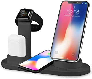 FOONEE Charging Stand for Apple Watch, Wireless Charging Dock for Iphone X, Apple Watch and Airpods, 3 in 1 Wireless Fast Charging Station for X/8 Plus/XS Ipad AirPods Iwatch Series