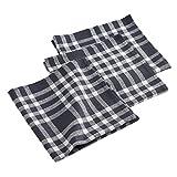 ligne décor 3 serviettes de table 45x45 cm traditio noir
