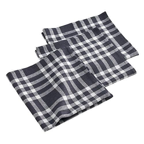 douceur d'intérieur Traditio Serviettes de Table, Coton, Noir, 40x40 cm