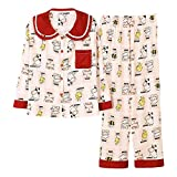 Pijama Mujer PrimaveraPijamas De Seda Satinada para Mujer, Conjunto De Pijamas con Botones con Estampado De Flores, Pijamas De Primavera Y Otoño para Mujer, Conjunto De Ropa De Do