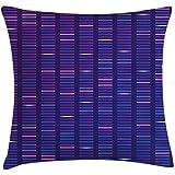 Fodera per cuscino per cuscino da tiro chimica 2 pezzi,interpretazione della struttura del genoma Test del DNA Visualizzazione modello verticale,federa decorativa quadrata,36 X 20,blu indaco rosa