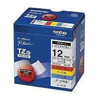 ブラザー工業 TZeテープ ラミネートテープ(TZe-131/231/431/531/631) 12mm 5種類詰め合わせパック TZe-31VA