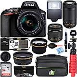 Nikon D3500 24.2MP DSLR Camera with AF-P 18-55mm VR Lens & 70-300mm Dual Zoom Lens Kit 1588 (Renewed) with...