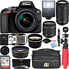 This Certified Refurbished product is refurbished to factory specifications, it shows limited or no wear Includes all original accessories plus a 90 Day Warranty Nikon D3500 24.2MP DSLR Camera with AF-P 18-55mm VR Lens & 70-300mm Dual Zoom Lens Kit I...