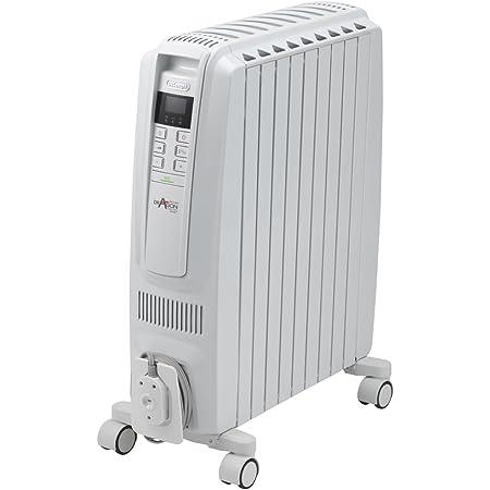 デロンギ(DeLonghi) ドラゴンデジタル スマート オイルヒーター ピュアホワイト + ホワイトX字型フィン9枚 10~13畳用 QSD0915-WH