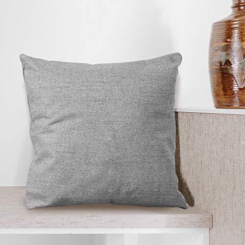 BCASE Funda Cojin Lino 45x45 cm, Funda Cojin Decorativa, Cómoda y Moderna para Habitación, Sofá, Cama etc Color Gris Claro