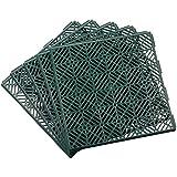garden mile® Carreaux de Jardin modulaires antidérapants et antidérapants en Plastique Robuste et Durable Green x 20