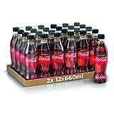 Coca-Cola Zero 660ml x24 (Bottiglia Pet Riciclabile)...