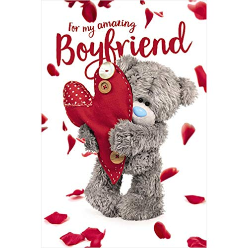 Me To You Bear 3D Holographic Boyfriend Valentine's Day Card