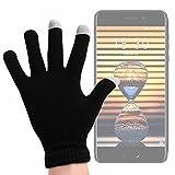 DURAGADGET Guantes Negros para Pantalla Táctil para Smartphone Meizu Pro 7 / Leagoo KIICAA...
