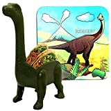 Dinosaur Taco Holder with Matching Dinosaur Coaster | Prehistoric Taco Holder (Holds 2 tacos) and Cup Mat Set for the Ultimate Jurassic Taco Tuesday | Fun Gift for Kids and Adults Alike | by Dinomite!