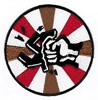 St Pauli Aufnäher / Patch gegen Rechts - smashed Swastika, 8 x 8 cm