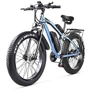 sheng milo MX02S 1000W Elektrofahrrad Elektrisches Mountainbike 26-Zoll-Fettreifen E-Bike 21 Geschwindigkeiten Beach Cruiser Herren Sport Mountainbike Lithiumbatterie Hydraulische Scheibenbremsen…