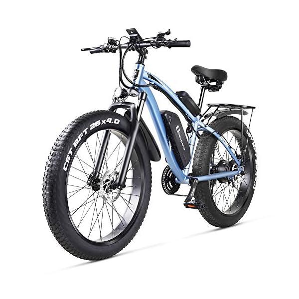 51pvBK2T+iL - sheng milo MX02S 1000W Elektrofahrrad Elektrisches Mountainbike 26-Zoll-Fettreifen E-Bike 21 Geschwindigkeiten Beach Cruiser Herren Sport Mountainbike Lithiumbatterie Hydraulische Scheibenbremsen…