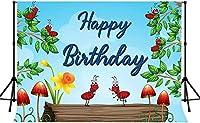 新しいウッドランドの背景250×180cm新しいビニールアリの葉の花の写真の背景の子供の誕生日パーティーのバナーの写真撮影の小道具250