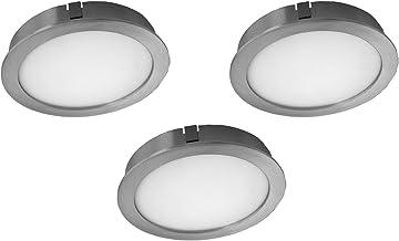 Evotec CUBIC55 CF LED onderbouwlamp set van 3 / 4000K / 3x4W / 1200 lumen, aluminium, 12 W, transparant, klein