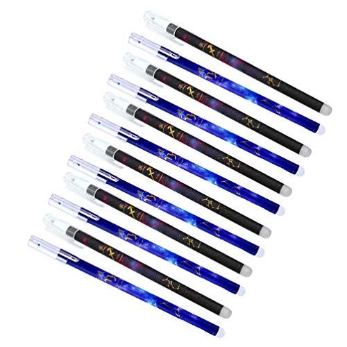 STOBOK Bolígrafo de Firma Borrable 24 Piezas 0. 5 Bolígrafos de Gel Borrables con Constelaciones Bolígrafos de Tinta de Gel de Plástico Elegantes Bolígrafos de Frixion para Escribir 