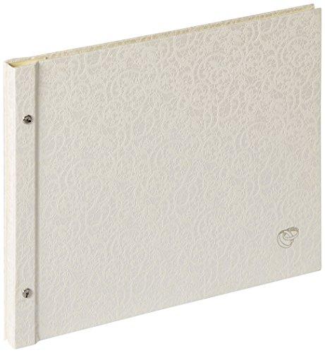 Walther SBL-213-W Buchschraubenalbum Sinfonia Wedding Music Struktureinband, 38 x 31 cm, weiß