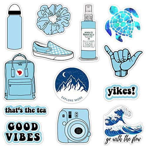 12-35Pack Vinyl Vsco Stickers for Hydro Flask Aesthetic Waterproof VSCO Girl Essential Stuff for Water Bottles Laptop Stickers for Women