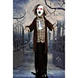 Haunted Hill Farm Life-Size Animatronic Zombie, Indoor/Outdoor, Flashing Eyes, Sounds, Battery-Operated, HHZOMB-1FLSA Halloween Decoration, Color 1