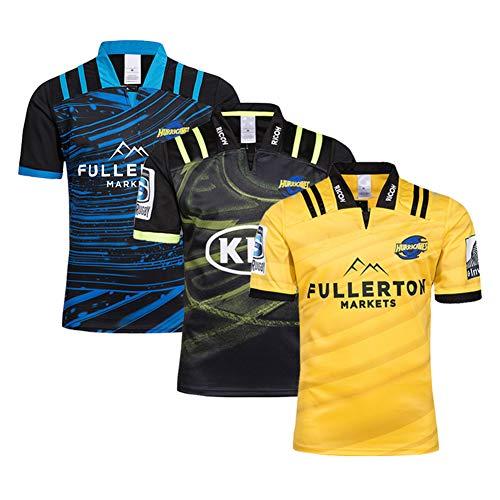 JUNBABY 2019 Hurricane Rugby Trikot, Hurricanes Rugby T-Shirt, Herren Trainingshemd-Green-M