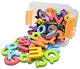 Seatrend Magnetic EVA Foam Alphabet Letters and Numbers Kits for Toddlers Kids in Fun Educational,Fridge Magnets Toy Set Preschool Learning Spelling Counting 114 PCS (Multicolored)