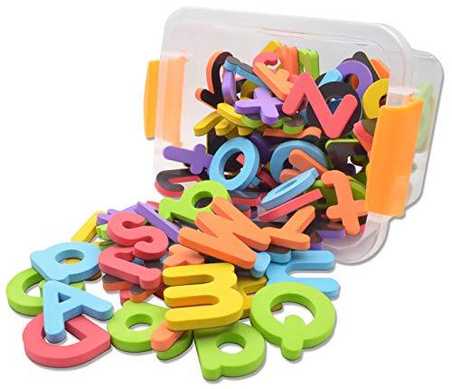 Pack de 114pcs bebé juguetes educativos baño alfabeto Frigorífico magnético letras del alfabeto