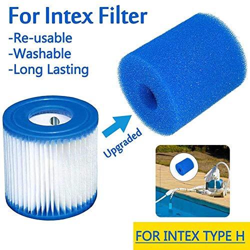shewt Esponja de Filtro para Intex Tipo A/H / S1, Equipo de Limpieza de Filtro de Piscina Espuma Reutilizable Espuma de Cartucho de Esponja