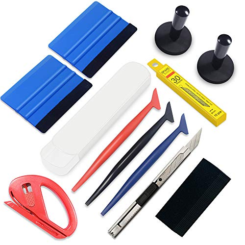 tiptopcarbon Vinyl Wrap Tool Window Tint Tool Kits with Felt Squeegee Wrap Stick for Vinyl Installation