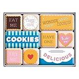 Nostalgic-Art Juego de Imanes Retro Wonder Cookies – Idea de Regalo para la Cocina, Decoración para la Nevera, Diseño Vintage, 9 Unidades