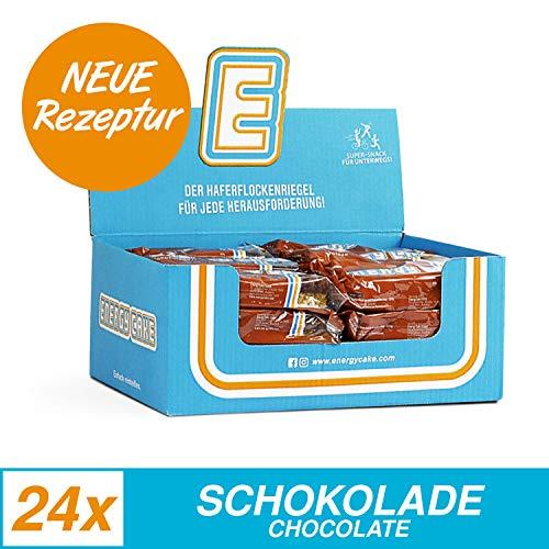 Energy Cake – Fitness Riegel aus Haferflocken mit langkettigen Kohlenhydraten – Hafer Kuchen Sattmacher für den Alltag mit weniger Zucker & unglaublichem Geschmack - Schokolade 24x 125g (3kg)