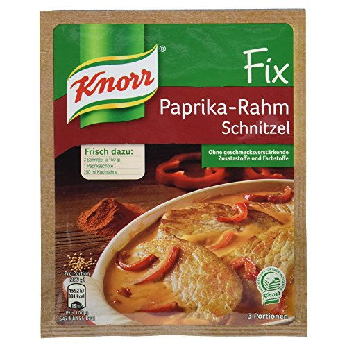 Knorr Fix Paprika-Rahm Schnitzel, 3 Portionen, 43g