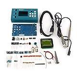 YELLAYBY Osciloscope Almacenamiento de Alta precisión Osciloscopio DIY Kit DIY desmonta Piezas con LCD 20MHz Sonda Enseñanza Set
