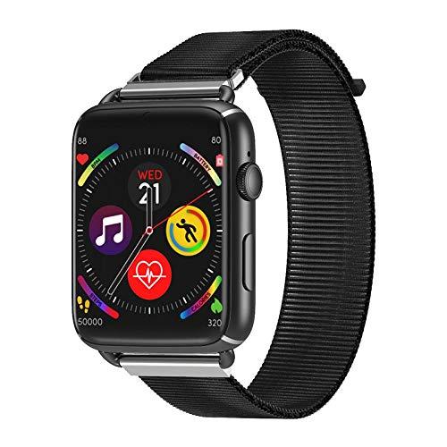 QXbecky Reloj InteligenteLEM10 4G GPS WiFiTarjeta SIM1.88Pulgadas cámaraAndroid 3GB 32GBMonitor de Ritmo cardíaco Reloj Inteligente teléfono Hombre Mujer Nylon Negro
