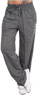 Womens Pants Trousers, Lady Spring Pants Loose Sportswear Pants Fitness Pants Sport Drawstring Trousers