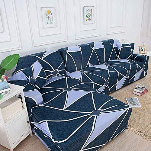 CHLM Fundas de sofá con Estampado decelosíaCuadrada para Sala de Estar Protector de sofá Fundas elásticas elásticas para Funda de sofá de Esquina