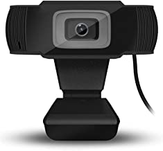 1080P HD Webcam with Dual Microphones - Webcam for Gaming Conferencing, Laptop or Desktop Webcam, USB Computer Camera for Mac Xbox YouTube Skype OBS, Free-Driver Installation Fast Autofocus Black