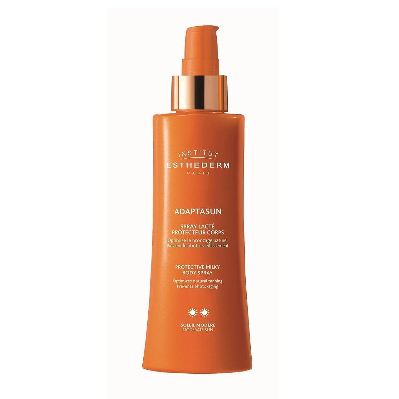 ネズミ銀滑るInstitut Esthederm Adaptasun Protective Milky Body Spray Moderate Sun 150ml [並行輸入品]