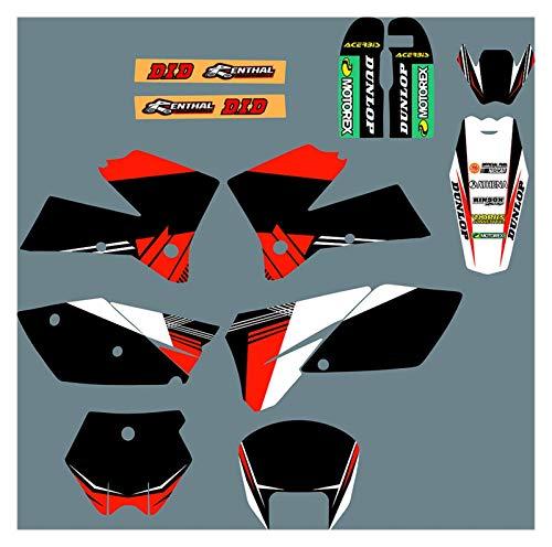Yhfhaoop DST0073 Calcomanías de Motocicleta 3M Personalizadas Pegatinas Gráficos Kit de Deca de gráficos para KTM SX 2005-2006